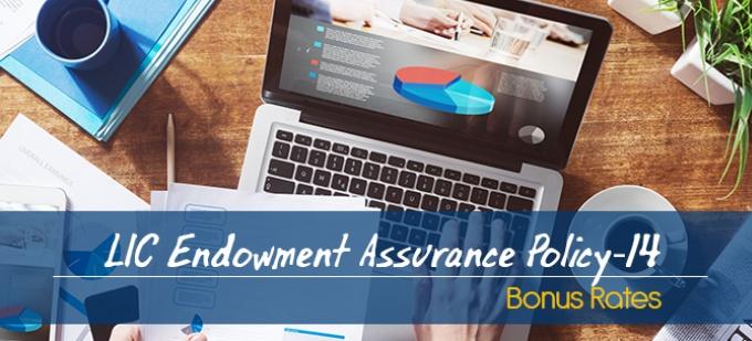 LIC Endowment Assurance Policy-14 Bonus Rates. Calculate returns & Maturity Value