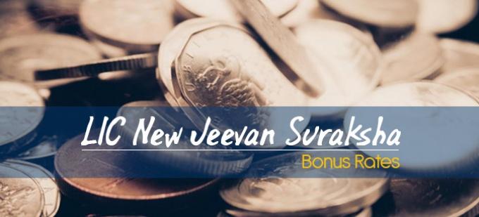 LIC New Jeevan Suraksha -I Bonus Rates