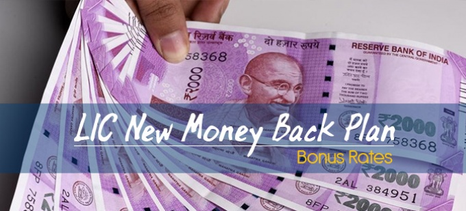 LIC New Money Back Plans-820 Bonus Rates