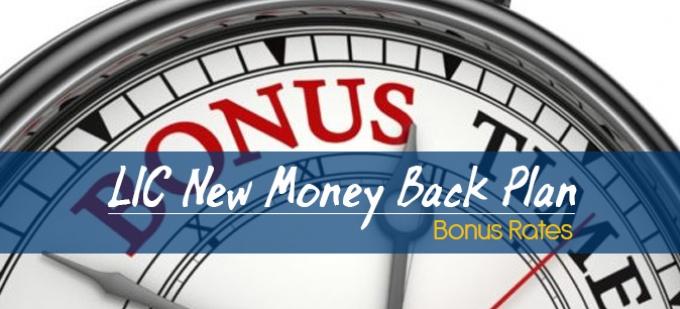 LIC New Money Back Plans-821 Bonus Rates