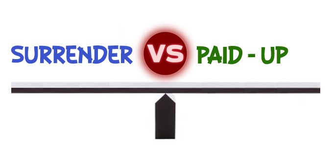Surrender v/s Paid-up – which is better?