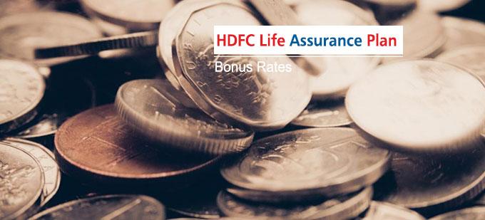 HDFC Life Assurance Plan Bonus Rates. Calculate returns & Maturity Value