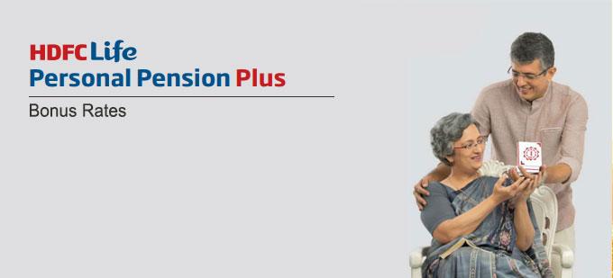 HDFC Life Personal Pension Plus Plan Bonus Rates. Calculate returns & Maturity Value
