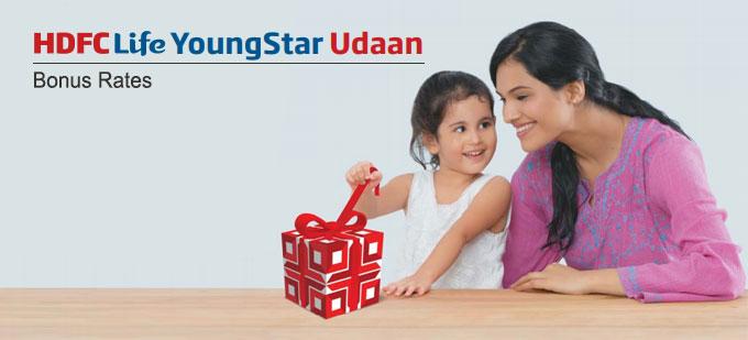 HDFC Life YoungStar Udaan Plan Bonus Rates. Calculate returns & Maturity Value