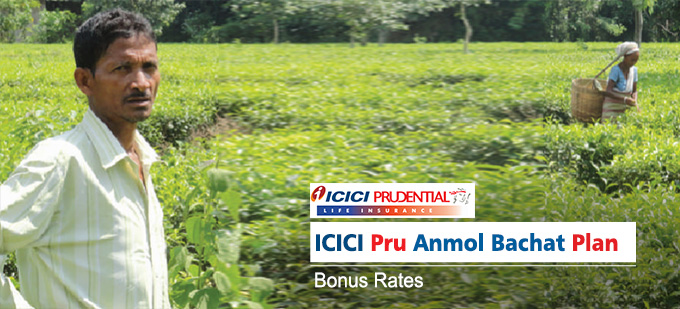ICICI Pru Anmol Bachat Plan Bonus Rates. Calculate returns & Maturity Value