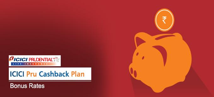 ICICI Pru Cashbak Plan Bonus Rates. Calculate returns & Maturity Value