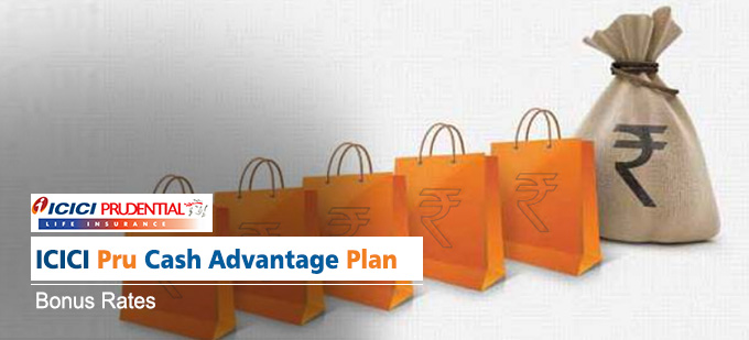 ICICI Prudential Cash Advantage Plan Bonus Rates. Calculate returns & Maturity Value