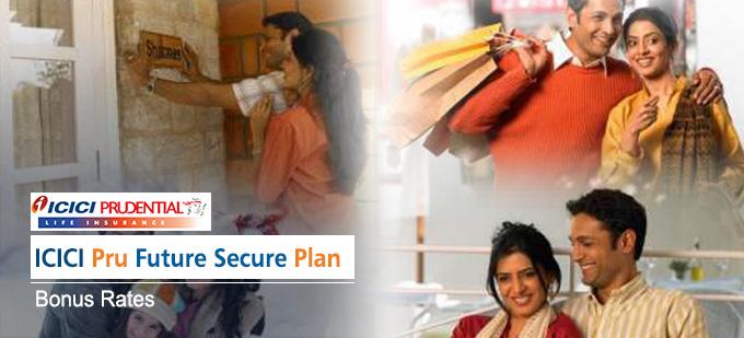 ICICI Prudential Future Secure Plan Bonus Rates. Calculate returns & Maturity Value