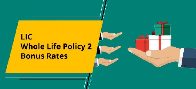 LIC Whole Life Policy  - Plan No. 2. Bonus Rates. Know the Maturity Value