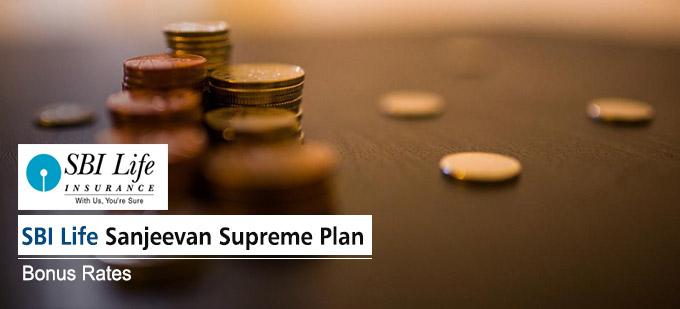 SBI Life Sanjeevan Supreme Plan Bonus Rates. Calculate returns & Maturity Value