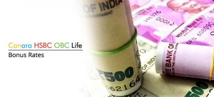 Bonus rate of Canara HSBC OBC Life plans. Check bonus values for all Canara HSBC OBC Life policies