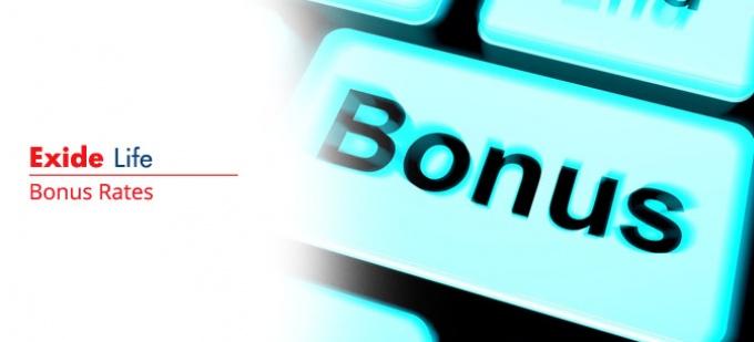 Bonus rate of Exide Life plans. Check bonus values for all Exide Life policies