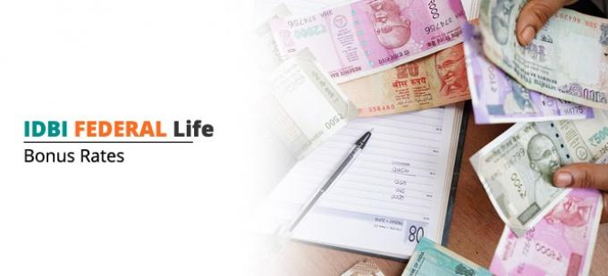 Bonus rate of IDBI Federal Life plans. Check bonus values for all IDBI Federal Life policies