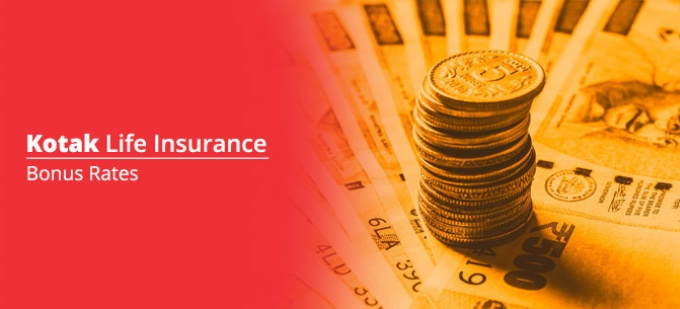 Bonus rate of Kotak Life Insurance plans. Check bonus values for all Kotak Life policies