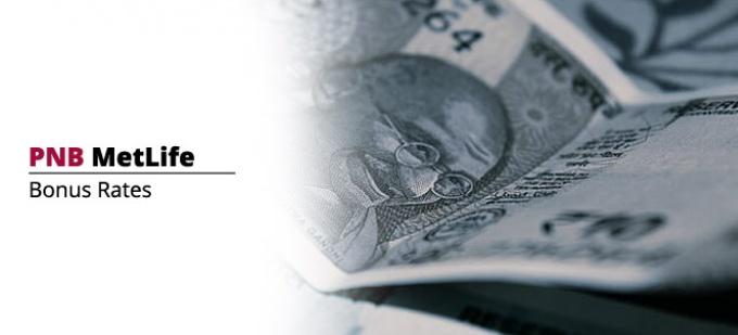 Bonus rate of PNB MetLife Insurance plans. Check bonus values for all PNB MetLife policies