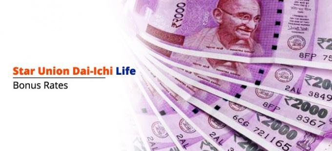 Bonus rate of Star Union Dai-ichi Life Insurance plans. Check bonus values for all  SUD Life policies
