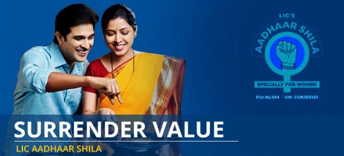 Surrender Value in LIC Aadhaar Shila Plan - Check your surrender value