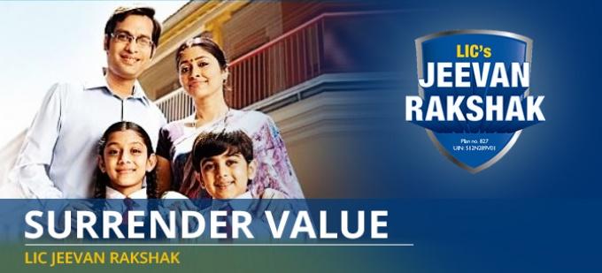 Surrender Value in LIC Jeevan Rakshak Plan - Check your surrender value