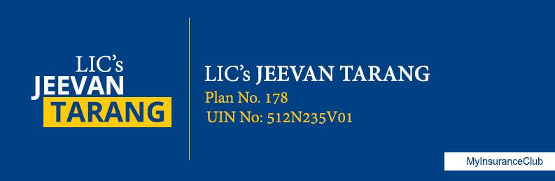 LIC JEEVAN TARANG BROCHURE PDF