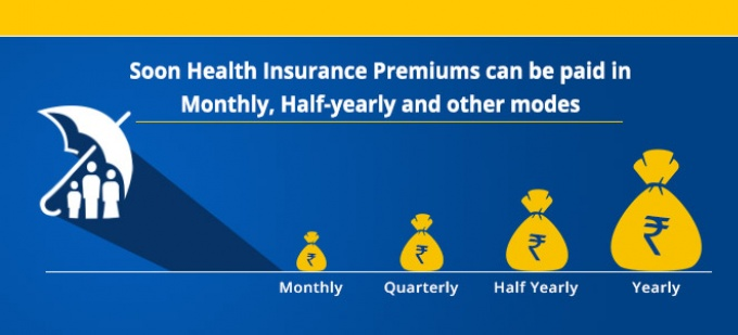 Soon Health Insurance Premiums can be paid in Monthly, Half-yearly and other modes